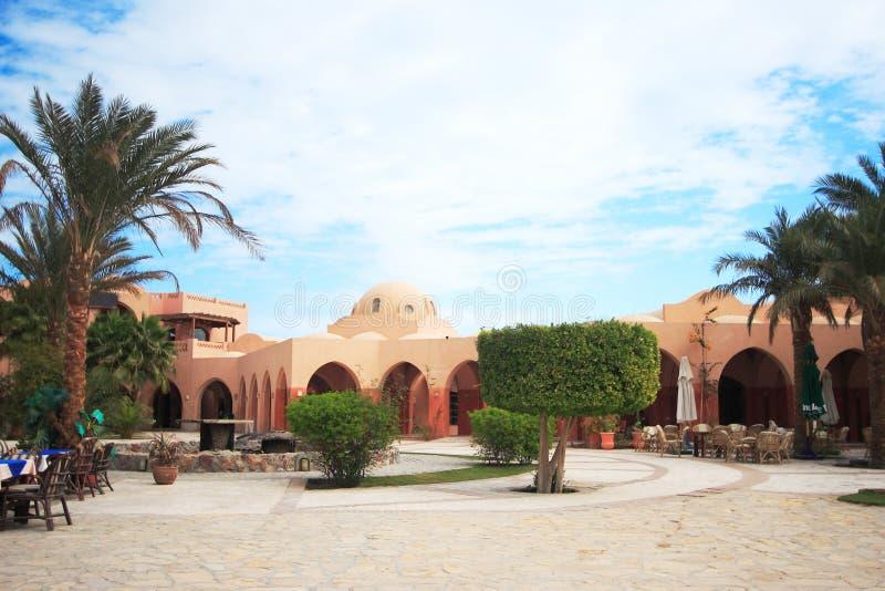 Quadrado de cidade em EL-Gouna, fotos de stock royalty free