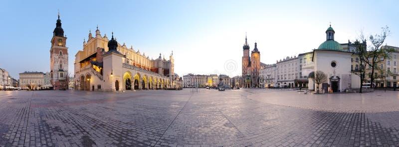 Quadrado de cidade em Krakow fotos de stock