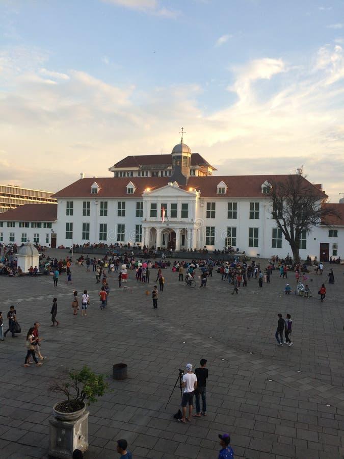 Quadrado de cidade velho Jakarta foto de stock