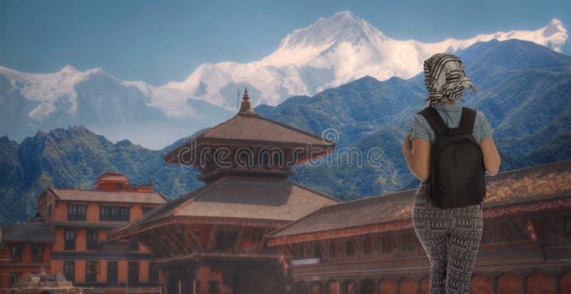 Quadrado de Durbar em Bhaktapur fotografia de stock royalty free