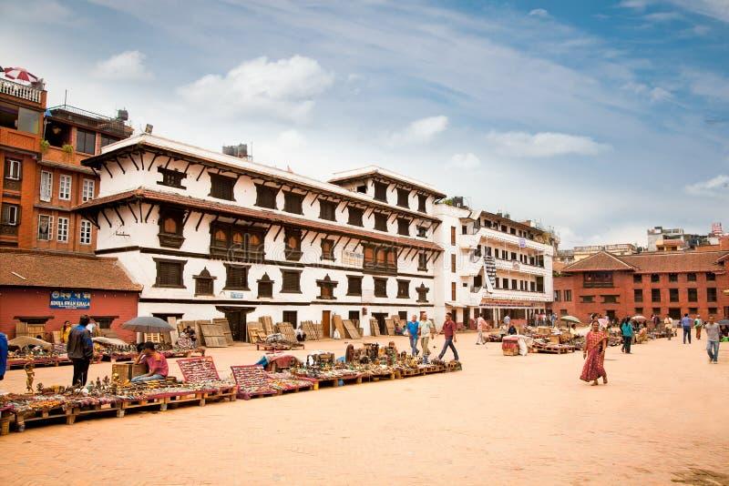 Quadrado de Durbar em Bhaktapur em Kathmandu Valley, Nepal. imagem de stock royalty free