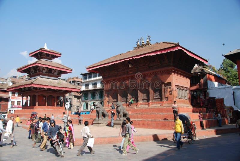 Quadrado de Durbar em Kathmandu imagem de stock