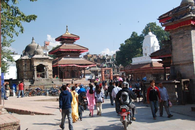 Quadrado de Durbar em Kathmandu foto de stock