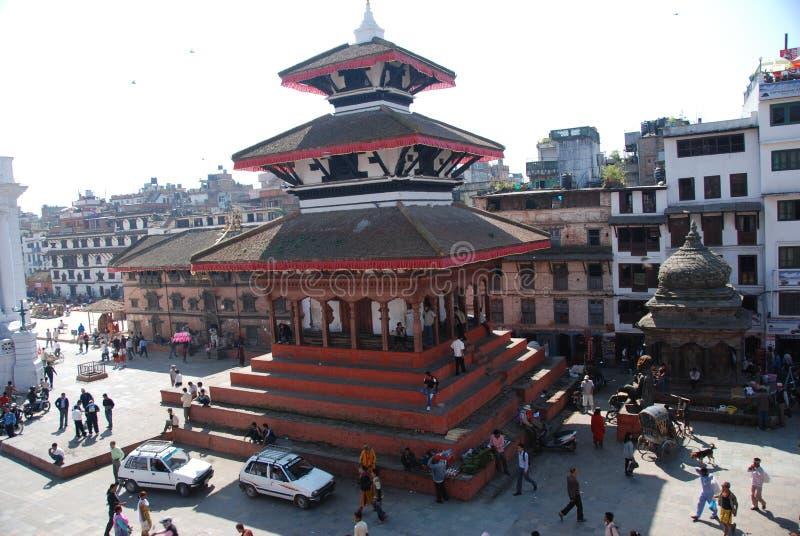 Quadrado de Durbar em Kathmandu fotos de stock royalty free