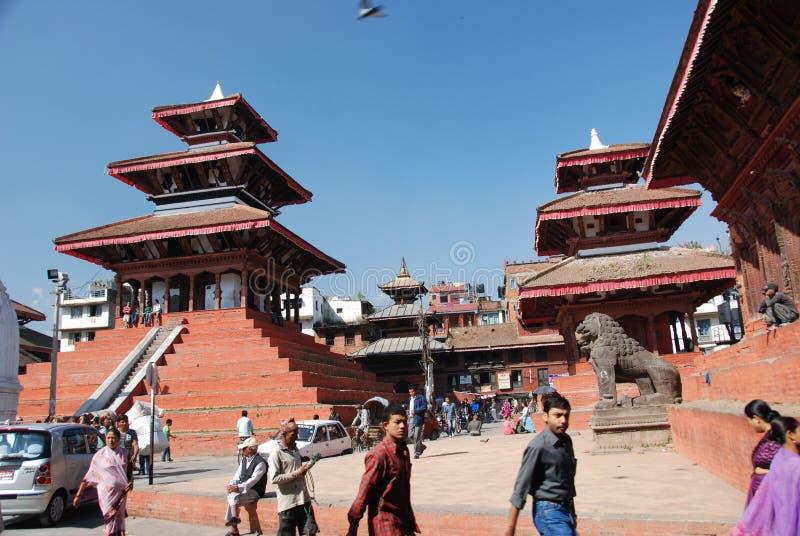 Quadrado de Durbar em Kathmandu fotografia de stock