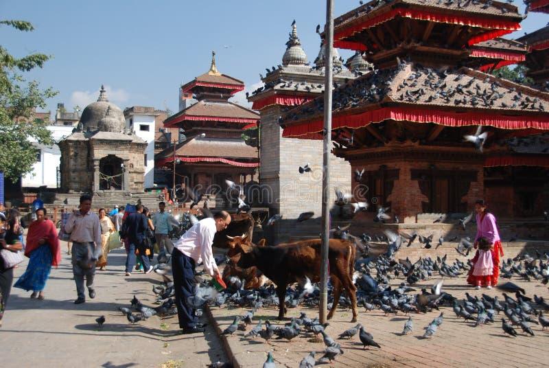Quadrado de Durbar em Kathmandu imagens de stock
