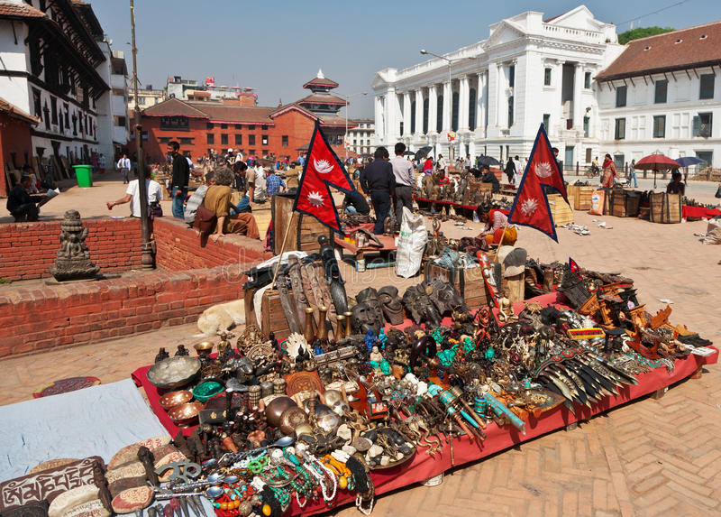 Quadrado de Durbar, Kathmandu, Nepal. fotografia de stock royalty free