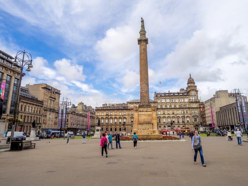 Quadrado de George, Glasgow imagem de stock