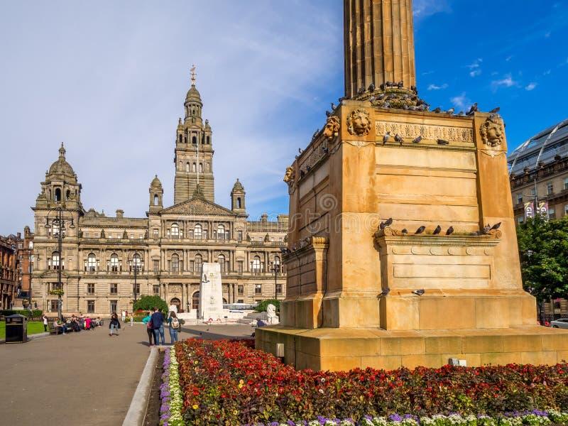 Quadrado de George, Glasgow foto de stock