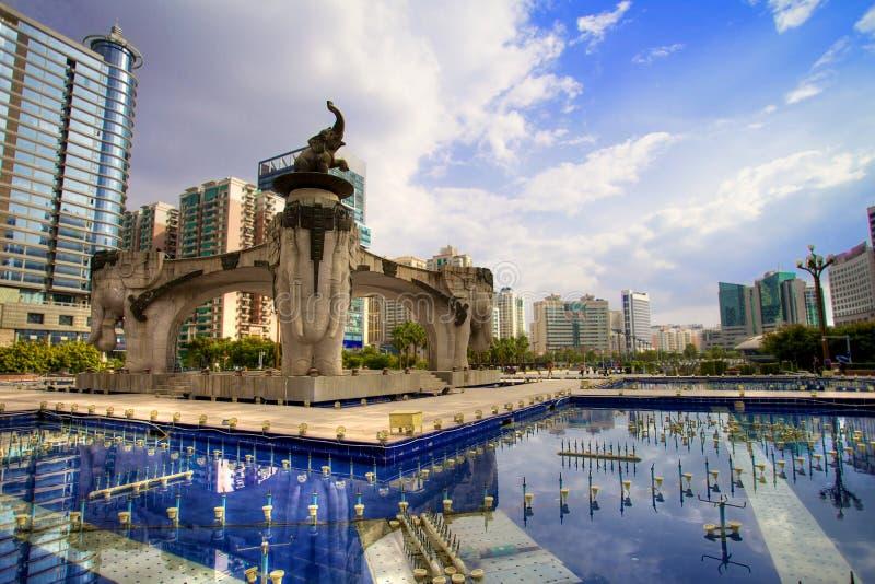 Quadrado de Jinhu em Nanning, China fotos de stock royalty free