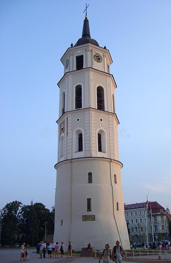 Quadrado de Katedros, catedral de St Stanislaus, torre de Bell da catedral imagem de stock