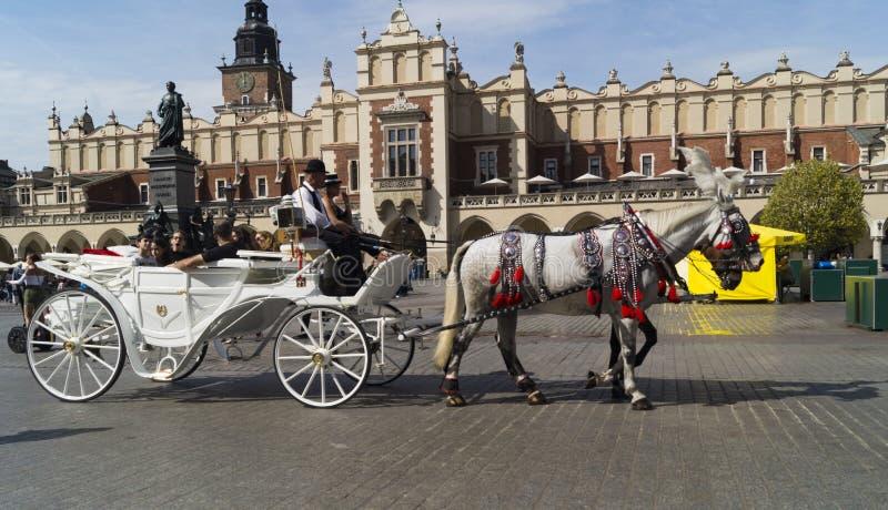 Quadrado de Krakow imagens de stock royalty free