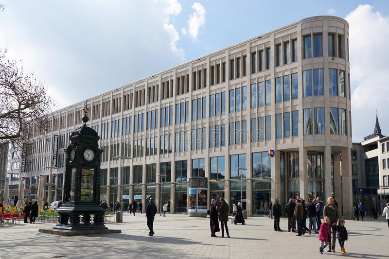 Quadrado de Kroepcke em Hannover Alemanha fotos de stock
