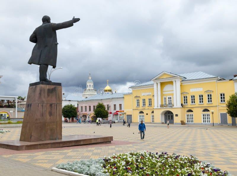 Quadrado de Lenin Cidade de Yelets foto de stock