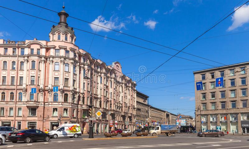 Quadrado de Leo Tolstoy, St Petersburg fotografia de stock