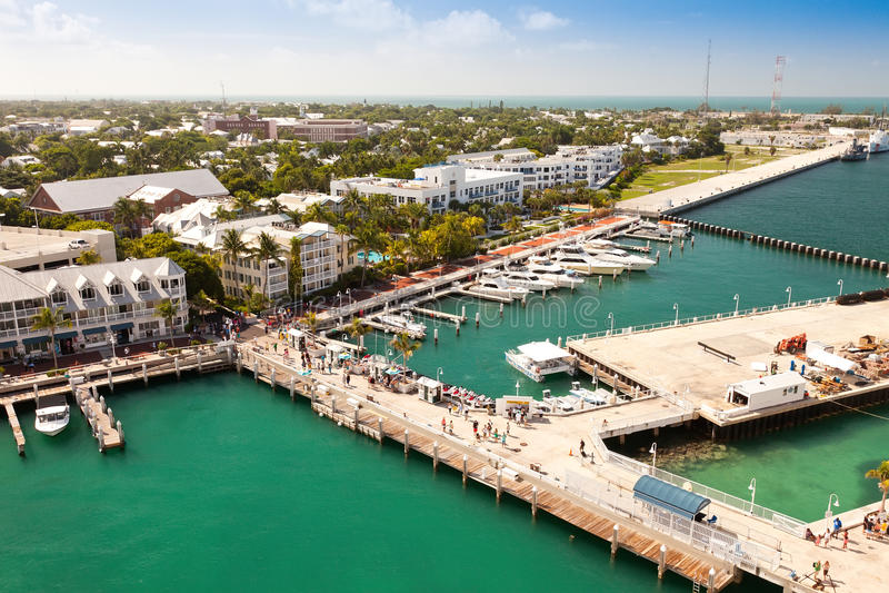 Quadrado de Mallory em Key West, Florida imagem de stock