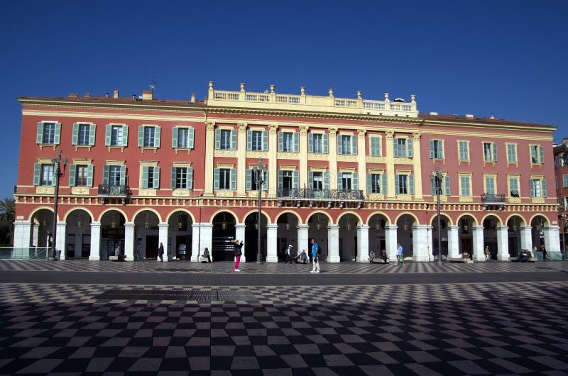 Quadrado de Massena na cidade de agradável, França foto de stock royalty free
