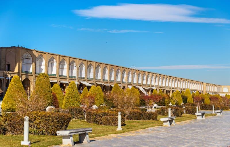Quadrado de Naqsh-e Jahan em Isfahan fotos de stock