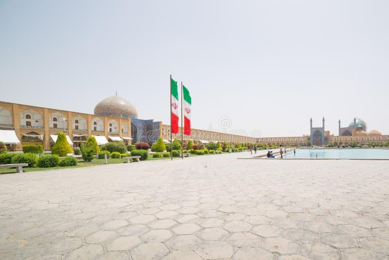 Quadrado de Naqsh-e Jahan em Isfahan, Irã imagens de stock royalty free