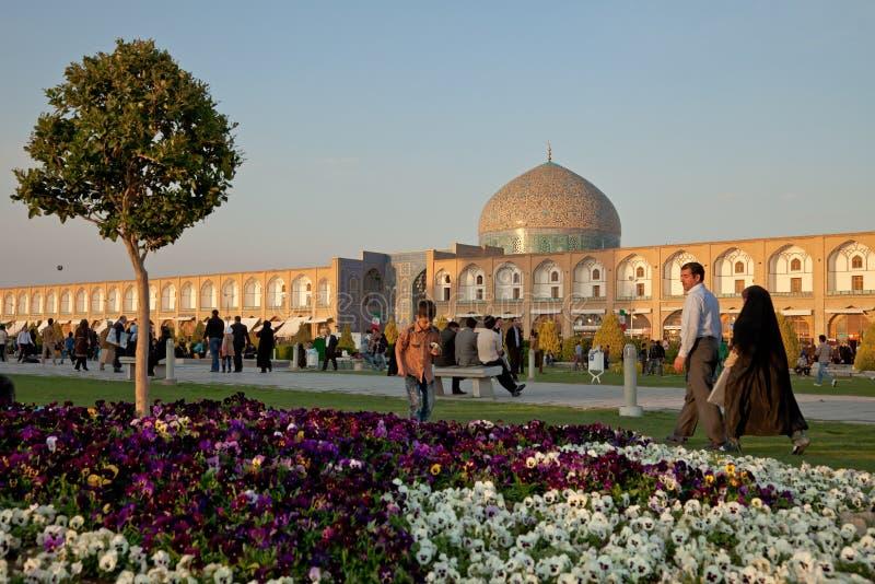 Quadrado de Naqsh-e Jahan na cidade de Isfahan imagens de stock