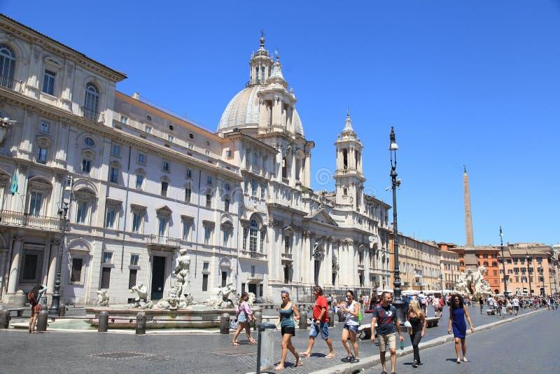 Quadrado de Navona da praça, Roma, Italy fotografia de stock royalty free