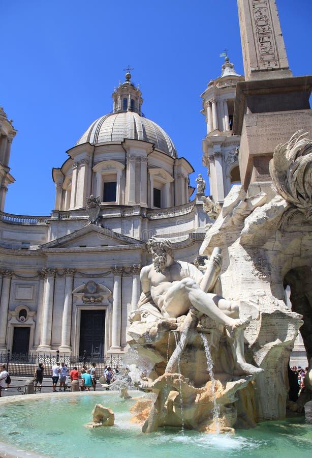 Quadrado de Navona da praça, Roma, Italy foto de stock