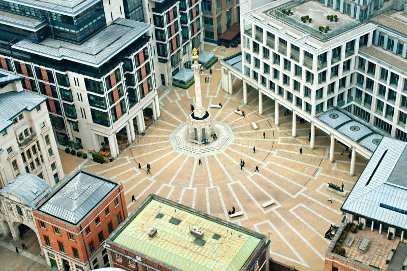 Quadrado de Paternoster, Londres, Inglaterra. imagem de stock