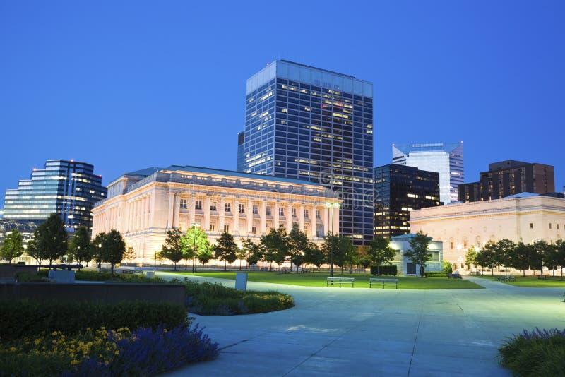 Quadrado de Pulaski em Cleveland fotografia de stock royalty free