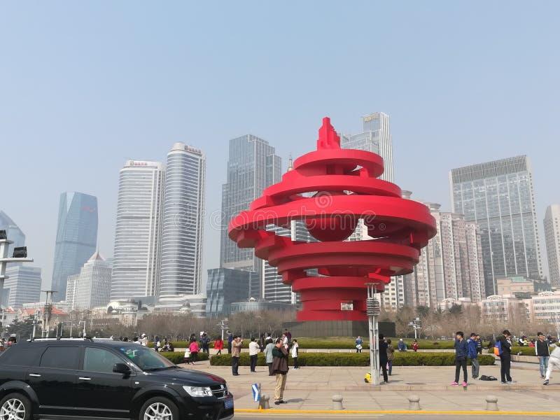 Quadrado de Qingdao 54, China imagens de stock royalty free