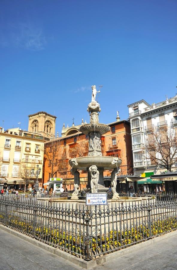 Quadrado de Rambla do babador, Granada, Espanha foto de stock royalty free