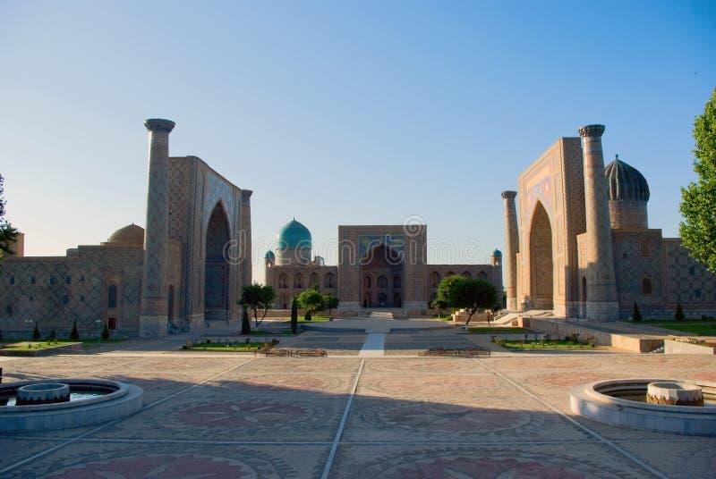 Quadrado de Registan. Samarkand foto de stock
