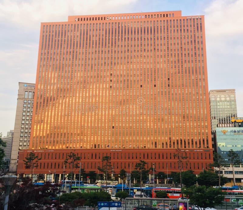 Quadrado de Seoul foto de stock