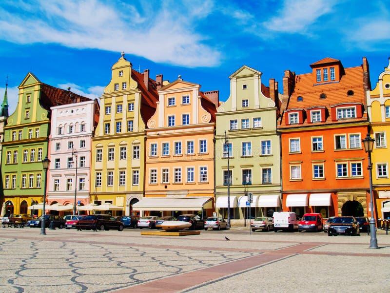 Quadrado de Solny, Wroclaw, Poland fotografia de stock
