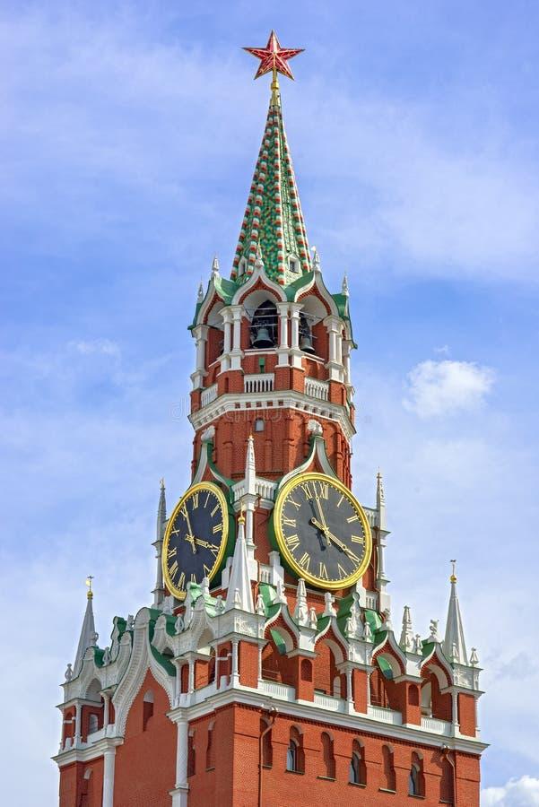 Quadrado de Spasskaya Tower fotos de stock royalty free