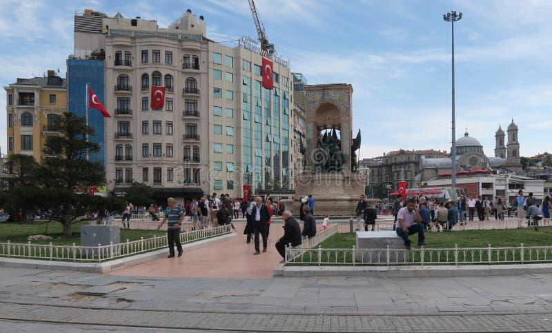 Quadrado de Taksim em Istambul, Turquia fotos de stock