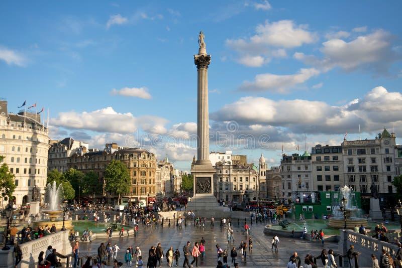 Quadrado de Trafalgar, Londres fotografia de stock royalty free