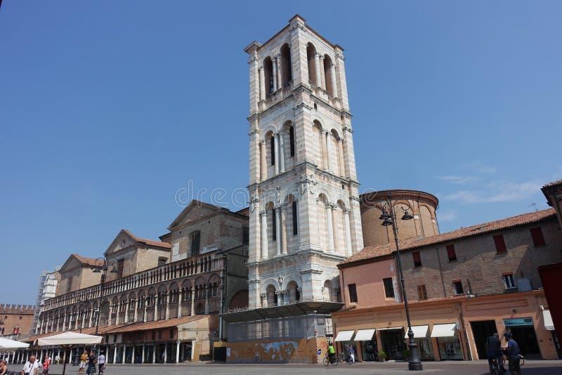 Quadrado de Trento e Trieste da praça de Ferrara fotografia de stock royalty free
