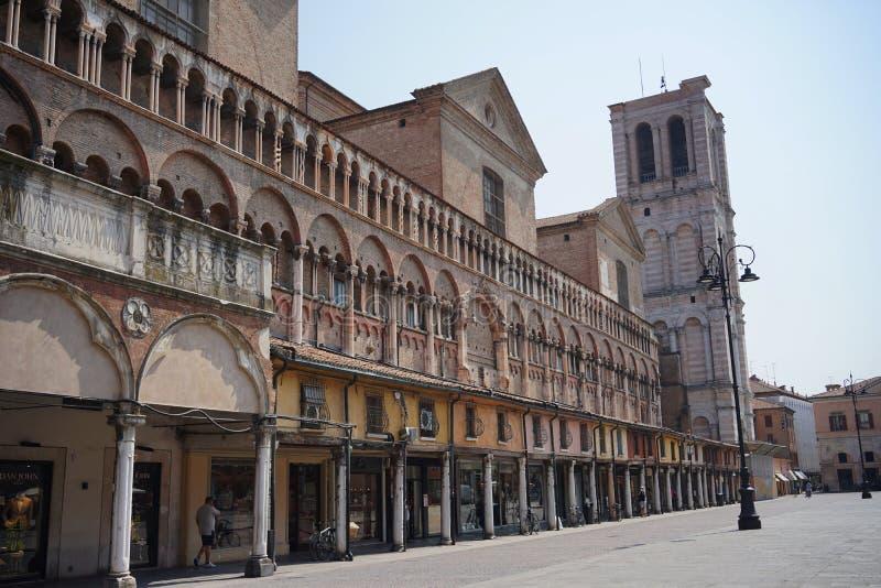 Quadrado de Trento e Trieste da praça de Ferrara imagem de stock