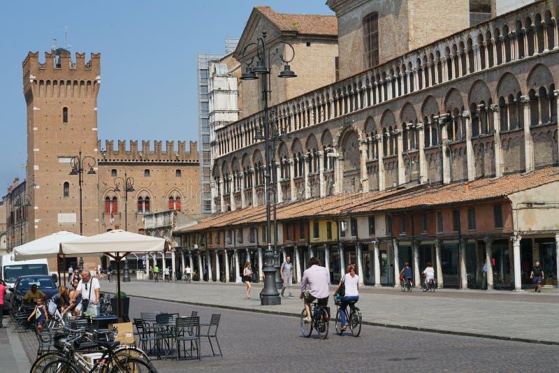 Quadrado de Trento e Trieste da praça de Ferrara imagem de stock royalty free