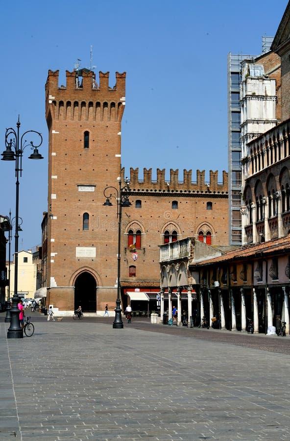 Quadrado de Trento e Trieste da praça de Ferrara fotos de stock royalty free