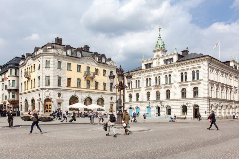 Quadrado de Upsália, Suécia fotografia de stock