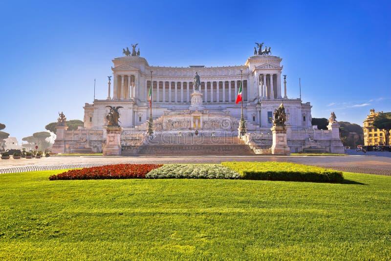 Quadrado de Venezia da praça na opinião de Patria do della de Roma Altare imagens de stock royalty free