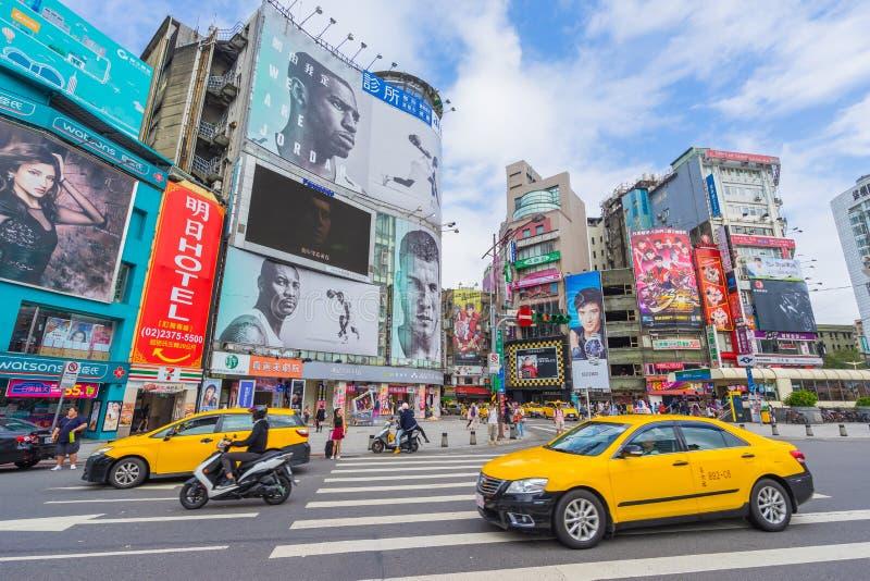 Quadrado de Ximending em Taipei, Taiwan fotos de stock royalty free