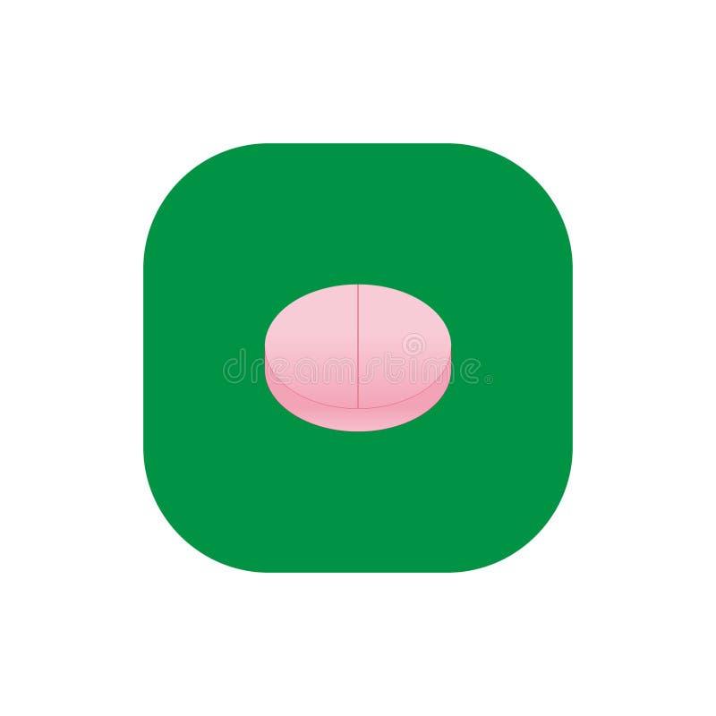 Quadrado do ícone do comprimido da vitamina mim imagem de stock royalty free