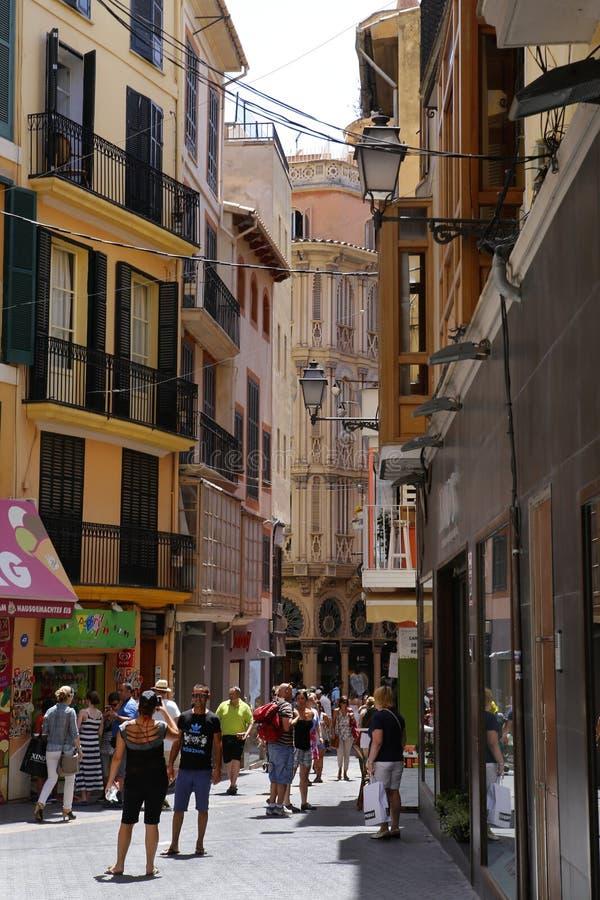 Quadrado do anúncio publicitário de Palma de Majorca foto de stock royalty free