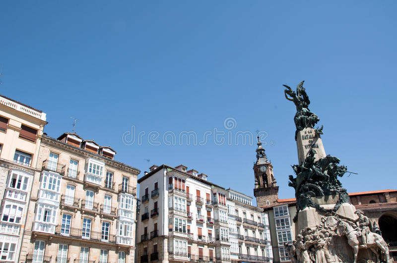 Quadrado do BLANCA de Virgen, Vitoria fotografia de stock royalty free