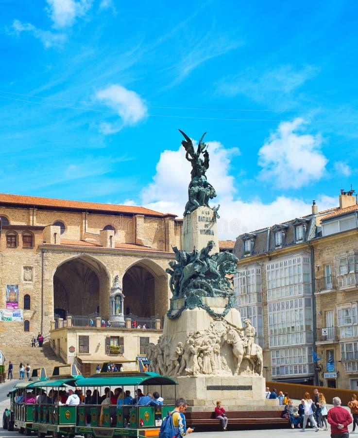 Quadrado do BLANCA de Virgen, Vitoria-Gasteiz imagens de stock