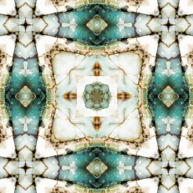 Quadrado do caleidoscópio: camadas do chert, costa de Oregon imagem de stock
