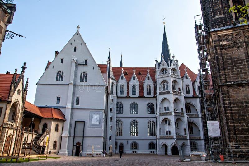 Quadrado do castelo de Meissen Albrechtsburg imagem de stock royalty free