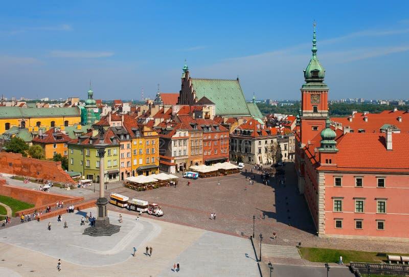 Quadrado do castelo, Varsóvia, Poland fotografia de stock